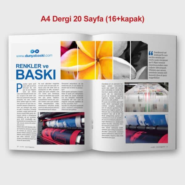 dergi basımı 20 sayfa A4