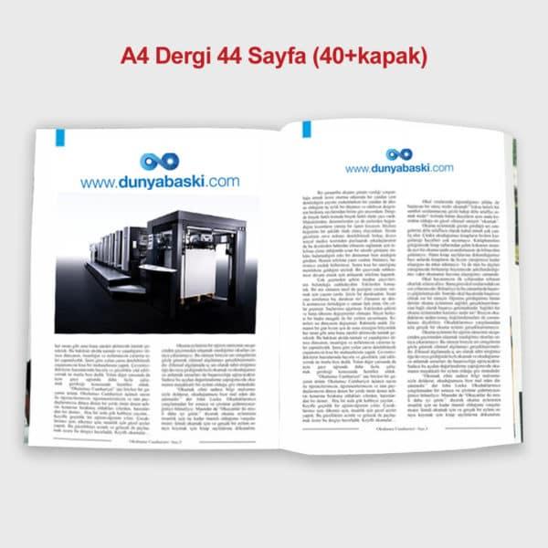 40+4 sayfa dergi baskısı
