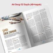 dergi baskısı 52 sayfa