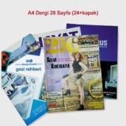 24 sayfa+kapak dergi baskısı