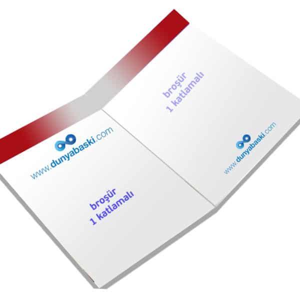 a4 broşür 1 katlamalı