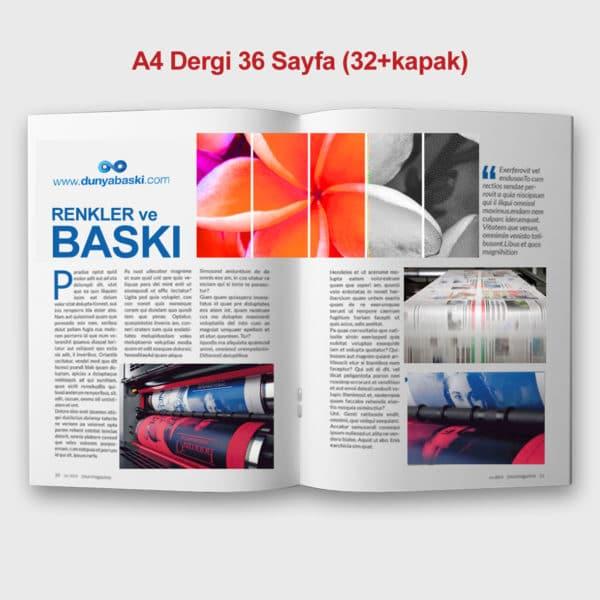 dergi baskısı 36 sayfa