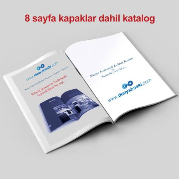 8 sayfa katalog basımı