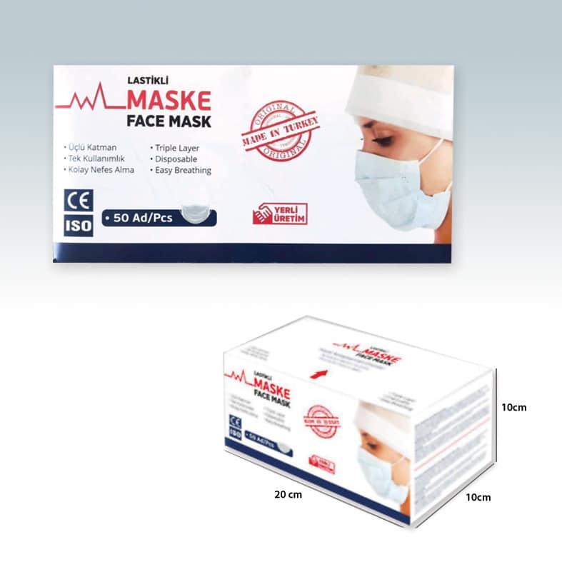 maske kutusu tasarımı ve baskısı